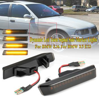 2 Pieces Dynamic Led Turn Signal Side Marker Lights Flowing LED Side Repeater Lamps for BMW E36 For BMW X5 E53 for BMW 3 Series image
