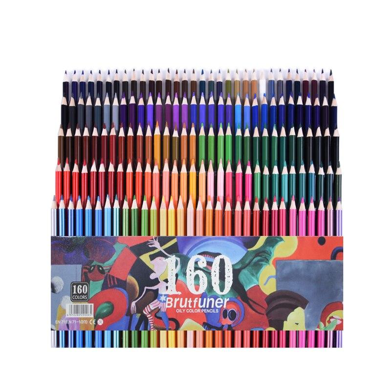 CHENYU 150 Colored Pencils Water Prismacolor Lapis De Cor 48/72/160 Colors Oil Soluble Color Pencil For Art School Supplies