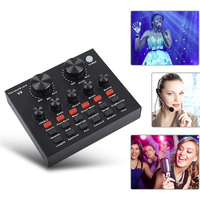 V8 Home For Mobile External USB Singing Sound Card Audio Headset Microphone PC Live Broadcast KTV Computer Recording Karaoke