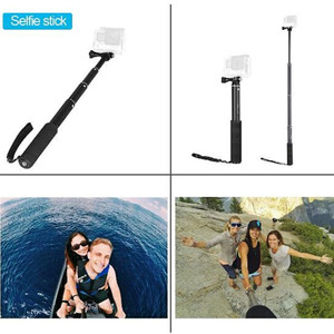 Image 5 - Monopiede Selfie Stick per Gopro Bastone Allungabile Baton Selfie Portatile Impermeabile Spiedi Mount per GoPro hero 7 6 5 Xiaoyi 4K DJI