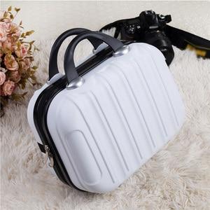 Image 5 - Women Professional Makeup Bag Suitcase Waterproof Travel Cosmetic Bag Beautician Toiletries Organizer Female Make up Bags Case