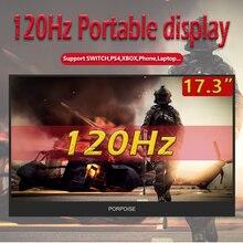 17,3 дюйма портативный дисплей узкая сторона расширения компьютера 1080p 120 Гц частота обновления экрана для Ps4 переключатель игры Xbox дисплей