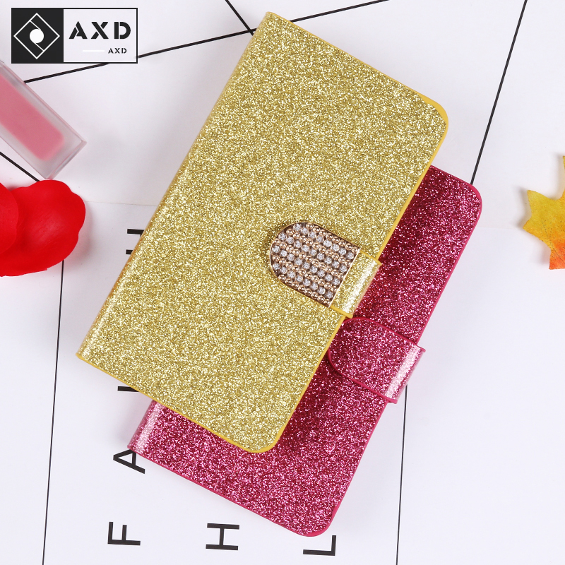 AXD Luxury <font><b>Glitter</b></font> <font><b>Case</b></font> For <font><b>Nokia</b></font> 5 5.1 6 6.1 7 Plus Flip Book Wallet Design Cover For <font><b>Nokia</b></font> <font><b>7.1</b></font> 8 Sirocco 8.1 Plus 9 Pureview image