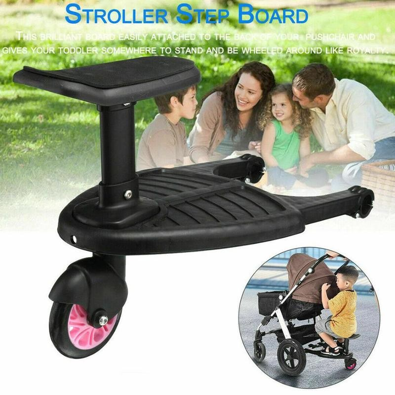 Universal Stroller Pedal Adapter Baby Stroller with Seat Kids Child Pram Wheel Standing Board Pedal