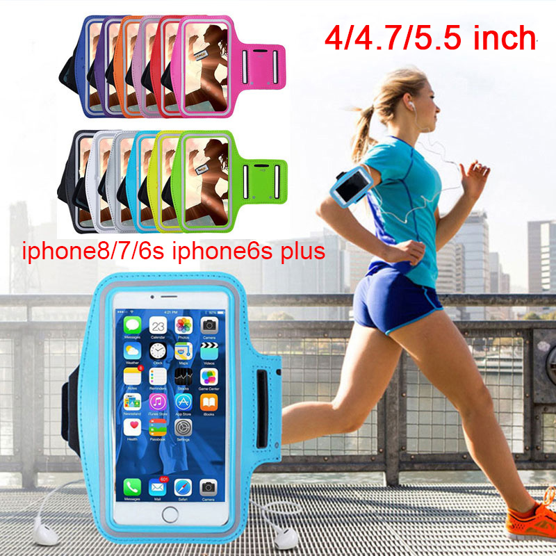 Outdoor Sports Running Cycling Phone Holder Bag Cover For Phones 4.7 Inch Fitness Workout Phone Arm Band Case Bag Running
