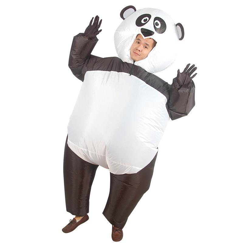 Аниме Забавный надувной костюм панды для взрослых животных надувной костюм на Хеллоуин рождественские новогодние вечерние костюмы