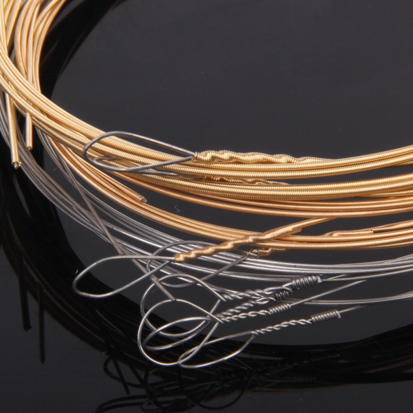 8 Strings For Mandolin Loop End Strings Brass Wound G D A E Gauge High Quality