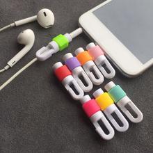 Gumowy kabel USB Protector słuchawka przewód ochronny osłona danych ładowarka linia ochronna dla iphone Huawei Xiaomi tanie tanio CN (pochodzenie) RUBBER Cable Protector Cable Protective Sleeve