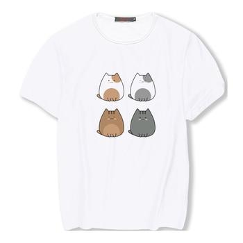 Women Shirts Women 2019 lady Shirts Funny T Shirts teen's Cute Cat Life Letter Print T Shirt Women Lovely Cat Kiss Baby
