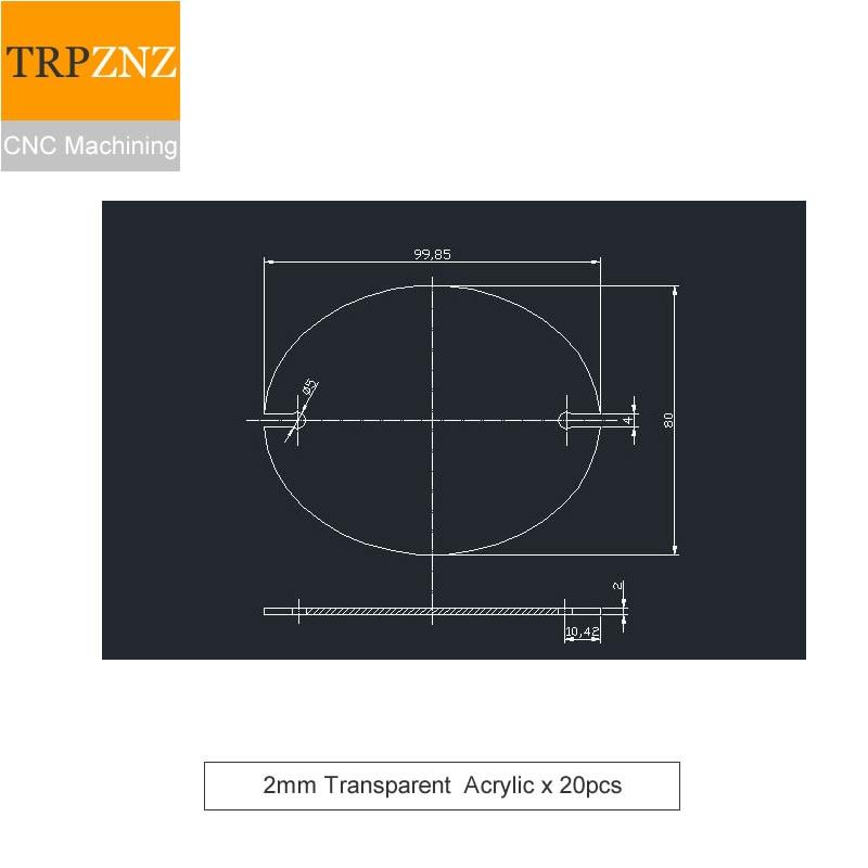 Custom Services, Plexiglass Plate Acrylic/PMMA Plate Laser Precision Cutting,2mm Thickness , Transparent ,  X 20pcs