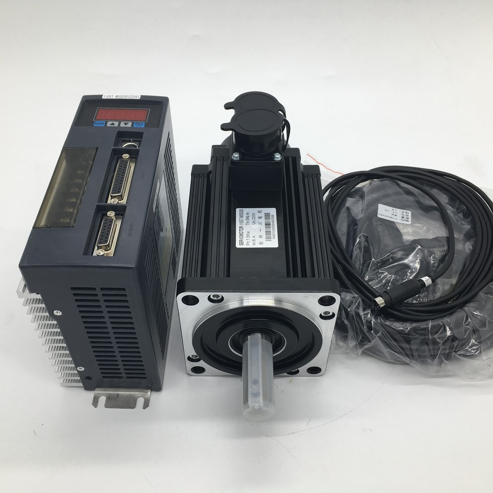 1KW 4NM AC Servo Motor Drive NEMA52 130mm Flange1000W 220V 2500R/Min CNC Constant Torque MODbus RS485 RS232 W/2Year Warranty