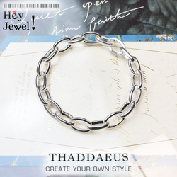 Europe Click Link Braclet Link Chain 925 Sterling Silver Trendy Fashion Club Jewelry Brand New Women Gift