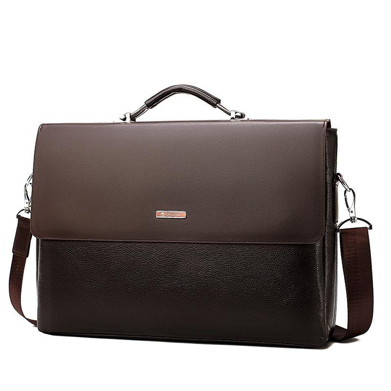 Men Bags Business Briefcase Luxury Messenger Handbags Male Laptop Bag Office Black Brown Leather Handbags PU Men Briefcase