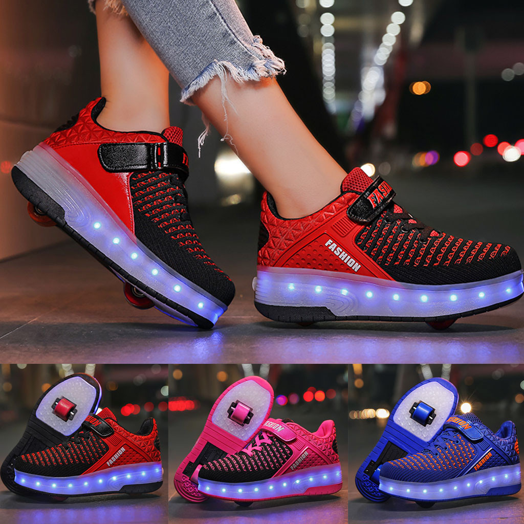 Autumn Children Casual Shoes Toddler Light Up LED Wheels Skate USB Shoes Fashion Kids  Leisure Sport Sneakers For Boy Shoes