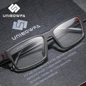 Image 3 - Optische Recept Brilmontuur Mannen Graden Bijziendheid Brillen Frame Clear Doorzichtige Bril Frame TR90 Rechthoek Eyewear