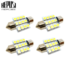 4x 31mm c5w c10w Festoon LED bulb 3528 Vanity Mirror Sun Visor Lights Bulb Auto Dome Light Car Interior Lamp Map light 12V White