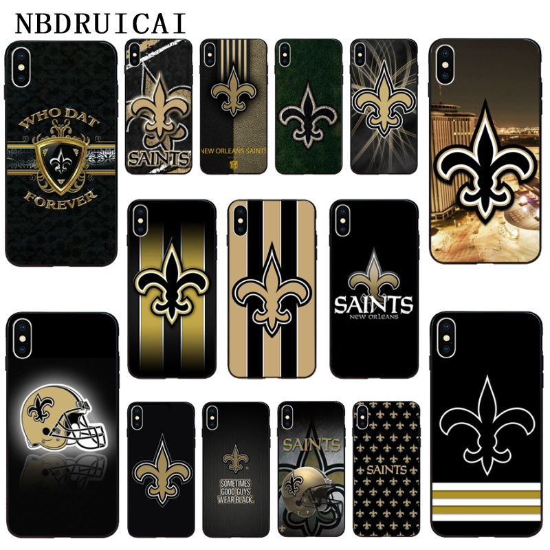 NBDRUICAI New Orleans Saints Rugby TPU Soft Silicone Phone Case Cover for iPhone 11 pro XS MAX 8 7 6 6S Plus X 5 5S SE XR case image