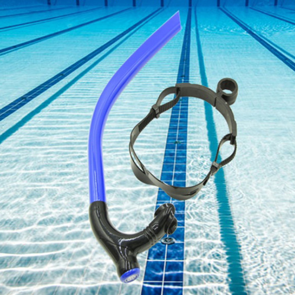 Swim Snorkel For Swimming Snorkeling Diving, Full Dry Air Breathing Tube,Purge Valve, Easy To Breath For Pool And Open Water