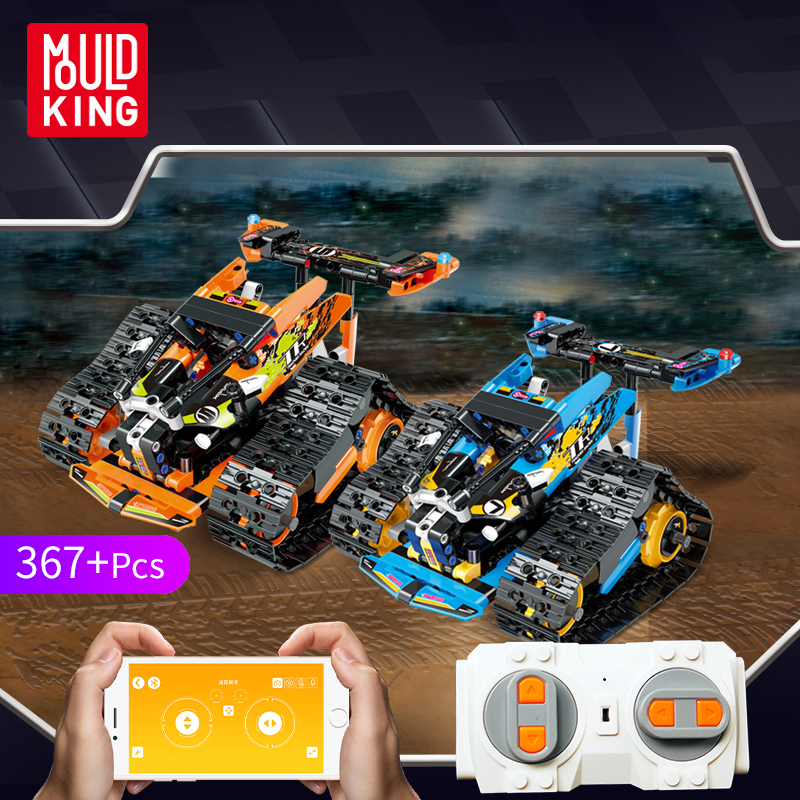 Technic Series The RC Track Remote-control Race Car Legoingly Set Building Blocks Bricks Educational Toys Gifts
