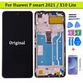 Оригинальный Для Huawei P Smart 2021 PPA-LX2 ЖК-дисплей с сенсорным экраном дигитайзер в сборе с рамкой для Huawei X10 Lite Y7A ЖК-дисплей