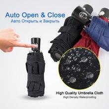 Mini Pocket Automatische Paraplu Regen Vrouwen 5 Vouwen Ultra Licht Reizen Mannen Paraplu Zwarte Coating Draagbare Outdoor Geschenken Paraplu