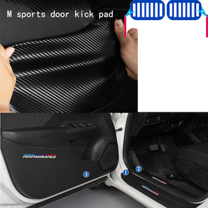Carbon Fiber Car Interior Door Anti-Kick Pad Sticker Cover For Bmw X1 X2 X3 X4 E84 F48 F49 F36 G01 F25 F26 G02 E83 M Performance