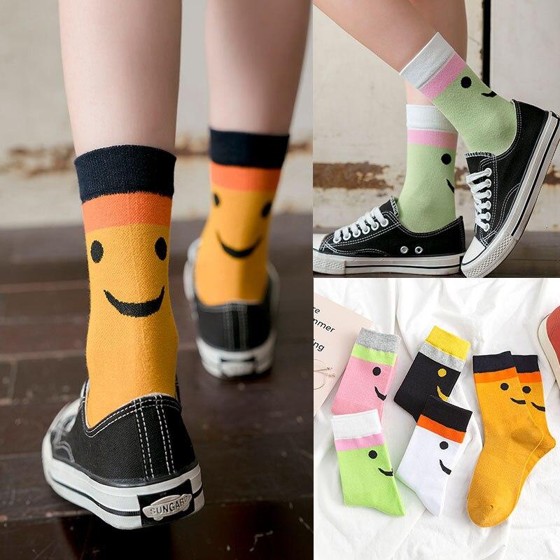 PEONFLY Korean Style Women  Short Socks Creative Art Harajuku Japanese Socks High Quality Cotton Tide Sox
