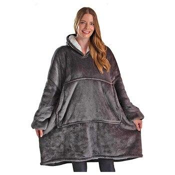 Oversized Hoodies Sweatshirt Women Winter Hoodies Fleece Giant TV Blanket With Sleeves Pullover Oversize Women Hoody Sweatshirts 1