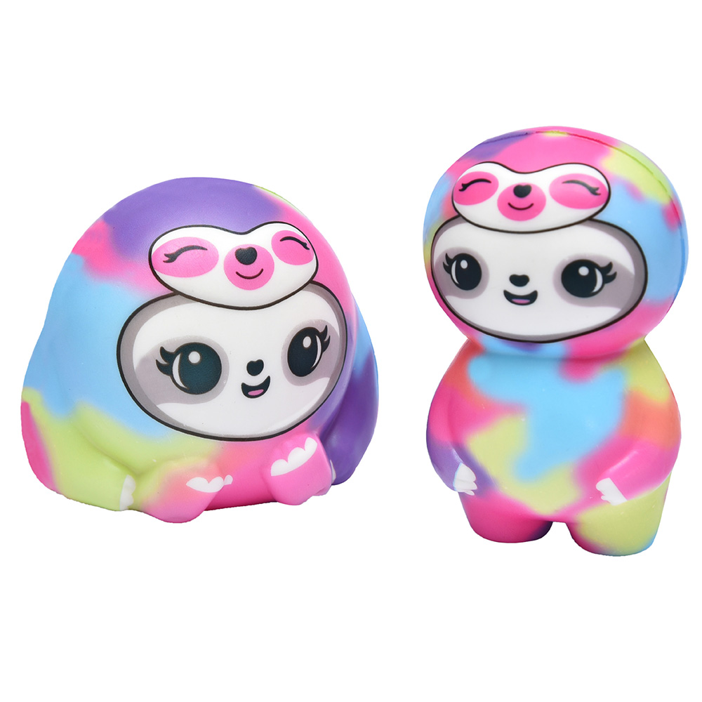 Jumbo Colorful Doll Squishy Slow Rising Kawaii Animal Scented Stress Relief Soft Squeeze Toy Funny Kid Baby Toy Gift For Kids