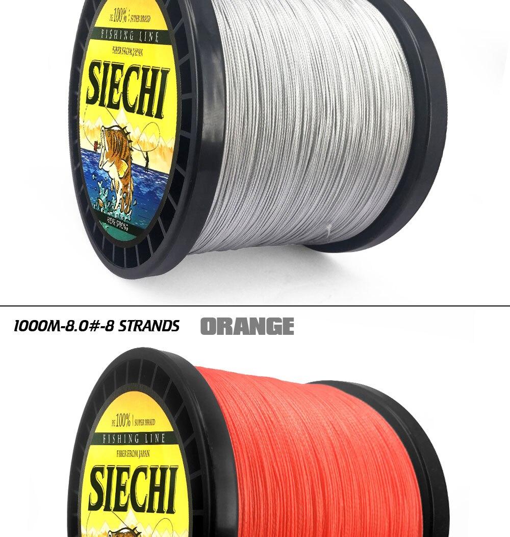 Siechi 1000m 8 fios multicor pe trançado