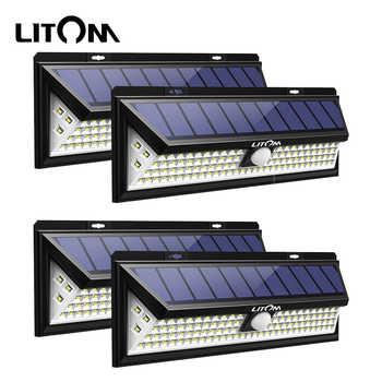 Litom CD126 120W Solar Lights Outdoor Motion Sensor Night Security Wall Lamp 102 LED Light Waterproof Energy Saving Garden Yard - DISCOUNT ITEM  43% OFF All Category