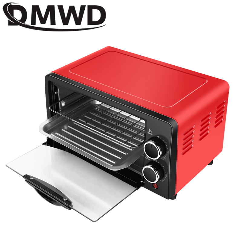 DMWD Household Electric Oven 12L Small Cake Baking Making Oven Multifunctional Desktop Pizza  Bread Baking Machine Toaster EU US