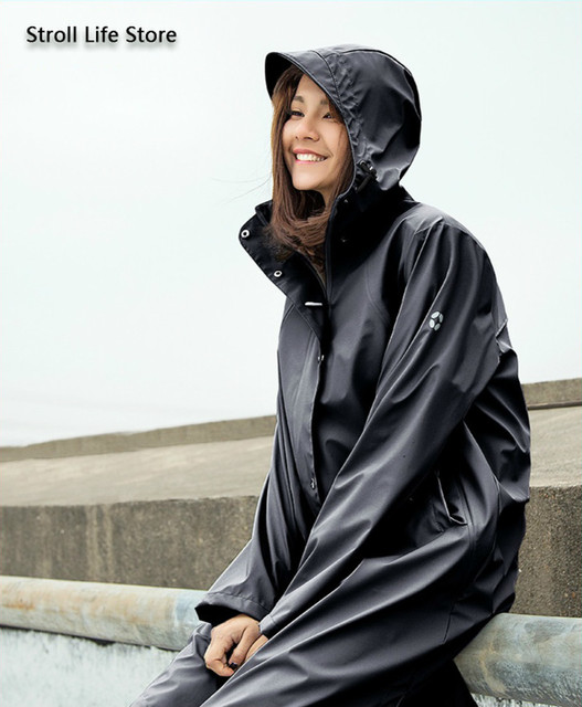 Long Adult Outdoor Rain Coat Full Body Cover Hiking Waterproof Black Rain Coat Jacket Travel Men and Women rain Poncho Coat Gift
