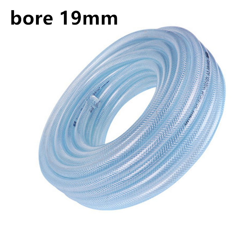 19mm Bore Custom Length Garden Soft Water Pipe Tube Car Wash Transparent 3 Layers Durable Building Material PVC Waterpipe Tool