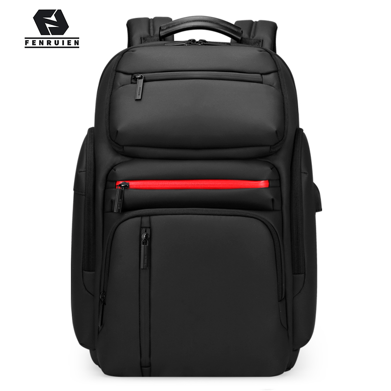 FRN Fashion Business Large Capacity Laptop Backpack Men Multi Function USB Charging Travel Backpack School Bag For Teenagers