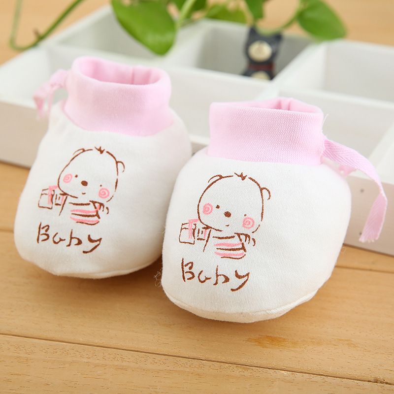 1 Pairs Fashion Baby Anti Scratching Foot Cover Newborn Protection Face Cotton Scratch Mittens