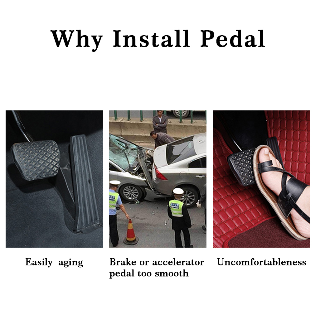 For D Focus AT car pedal gas foot rest stainless modified pad non slip performance aluminium fuel in Pedals from Automobiles Motorcycles