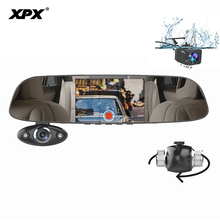 цена на XPX ZX816 DVR Mirror Car DVR Dash cam 3 cameras 5 Inch Rearview camera Rearview mirror Full HD 1080P Car camera Mirrir Salon cam