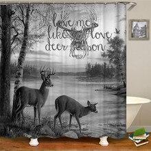 цена на Cartoon wild animal shower curtain bathroom decorative curtain waterproof fabric bathroom curtain