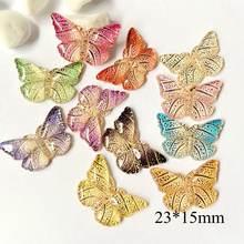 50 шт/лот 15*23 мм 1 отверстие бабочка сборка акриловые Канцтовары