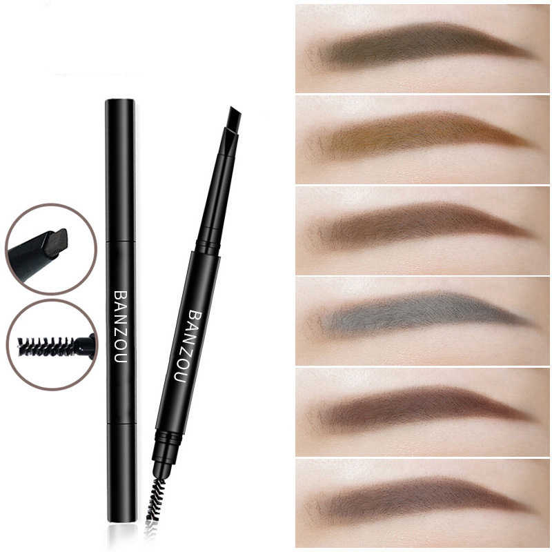 6Color Double End Rotary Eyebrow Pencil Waterproof Natural Black Gray Eyebrow Pen Non-marking Anti-sweat Eyebrown Enhancer TSLM2