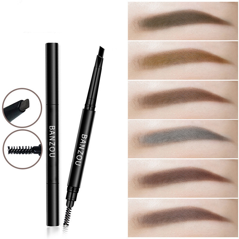 6Color Double End Rotary Eyebrow Pencil Waterproof Natural Black Gray Eyebrow Pen Non-marking Anti-sweat Eyebrown Enhancer TSLM2