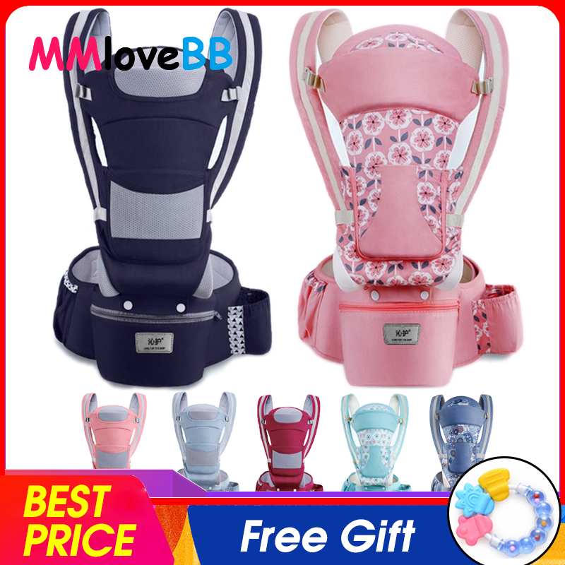 Mmlovebb Ergonomic Backpack Hipseat-Carrier Wrap-Sling Carrying Travel Baby Omni Children