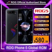 Asus – téléphone portable ROG 5 5G Gaming, écran de 6.78 pouces, smartphone, mémoire de 16 go de RAM et 256 go de ROM, snapdragon 888, android 11, batterie de 6000mAh, charge rapide, 65W