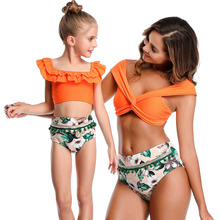 Mother And Daughter Swimsuit Summer Mommy And Me Swimwear Family Matching Clothes Brand New Bikini Mom Daughter Bathing Suit mother daughter swimsuits family look mom and daughter swimwear unicorn family matching bathing suit mommy and me bikini clothes