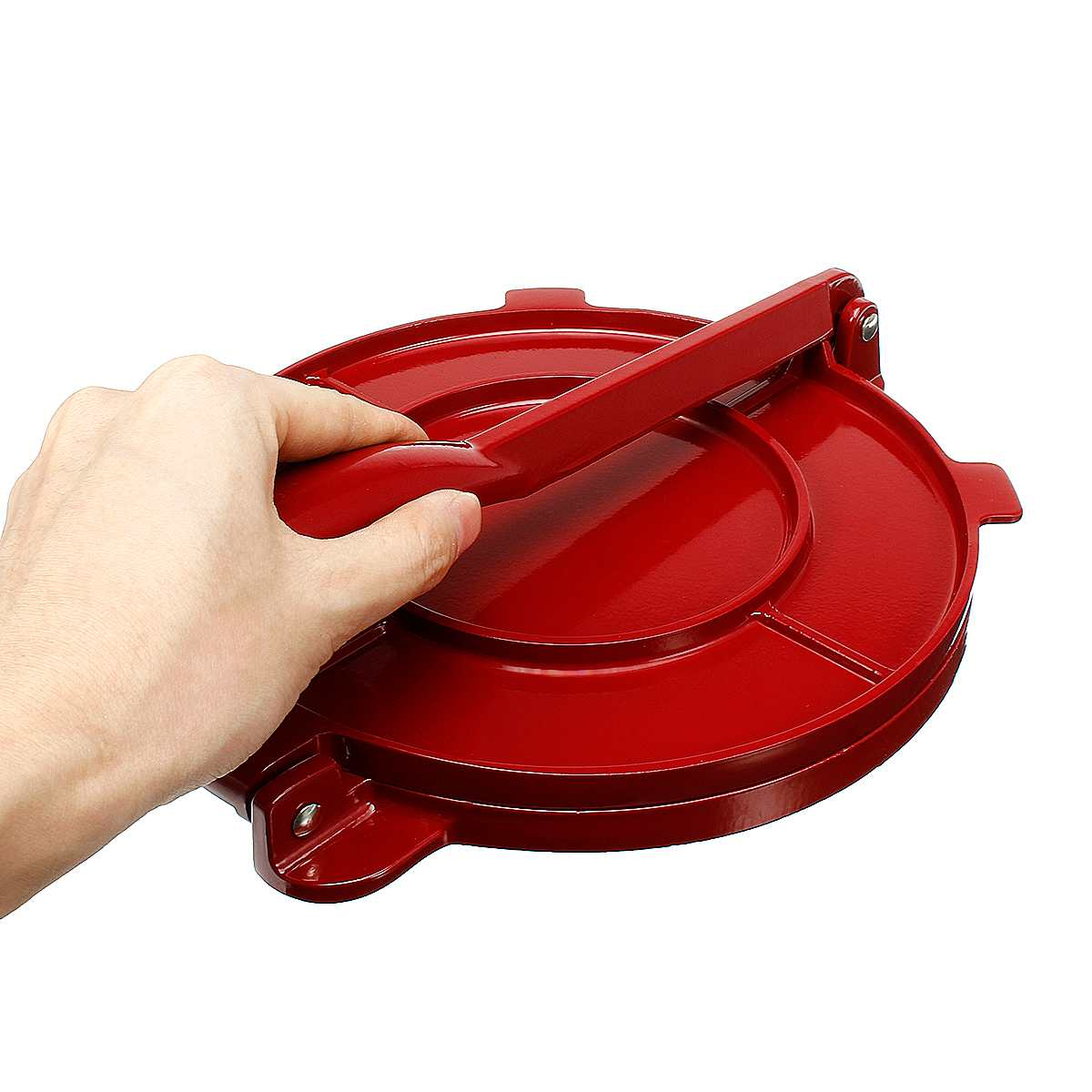 New Foldable 8 Inches Tortilla Press Maker Aluminum Flour Corn Baking Tool Bakeware DIY Pie Tools Gadgets Red Kitchen Accessorie image