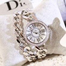2018 החדש קוורץ שעון מקוריים high end תכשיטים צמיד עמיד למים נירוסטה נשים של שעון Relogio Feminino