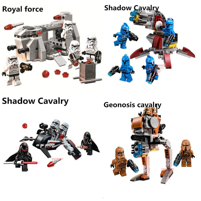 STAR WARS Building Blocks Royal Army Transport Aircraft Clone Troops Trooper Mini Bricks Figures Toys For Children Legoings
