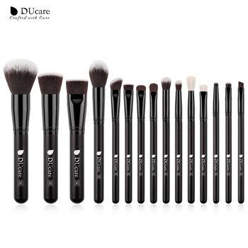 DUcare  Black Makeup brushes set Professional Natural goat hair brushes Foundation Powder Contour Eyeshadow make up brushes - 15PCS Brushes, Russian Federation