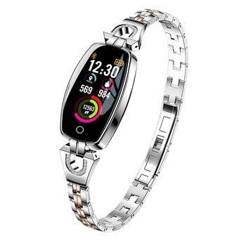 New smart Blood Pressure Heart Rate Monitoring Pedometer Fitness Equipment Wireless Sports Watch Fitness AHPU